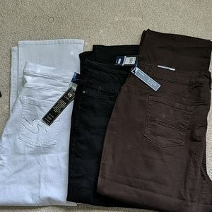 Bundle of brand new jeans. Brown and Black pair of